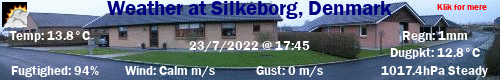Weather at Buskelundtoften in Silkeborg, Denmark
