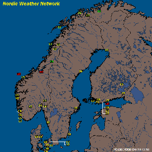 Nordic Weather Network from 20. August 2008