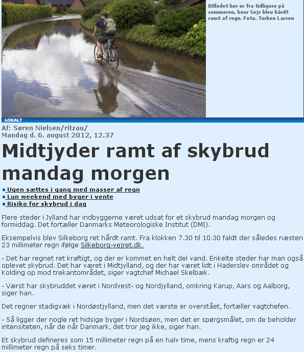 Article in Midtjyllands Avis