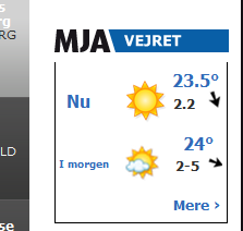 Weather at Silkeborg on mja.dk